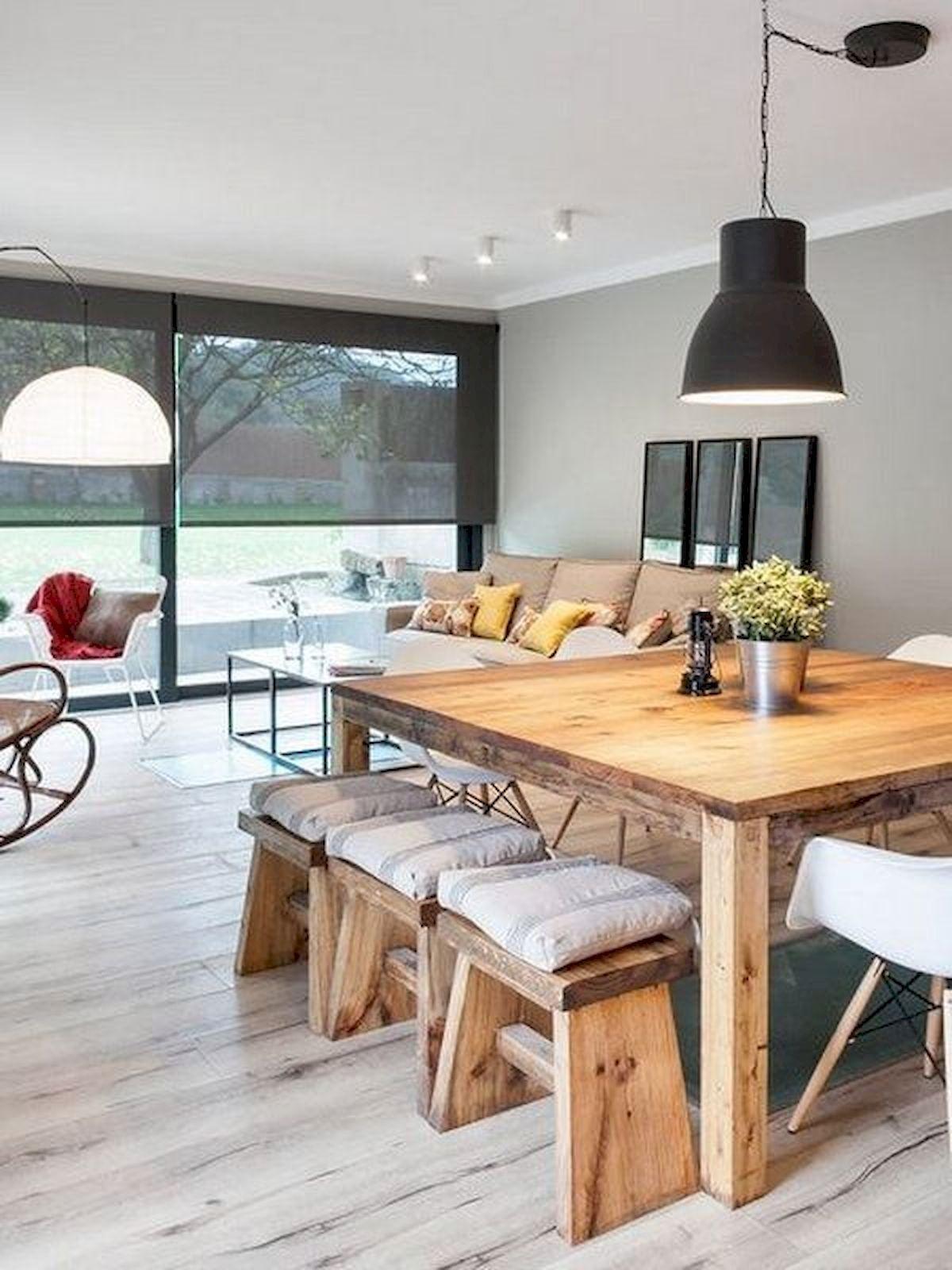 Cool 60 Modern Farmhouse Dining Room Table Ideas Decor And