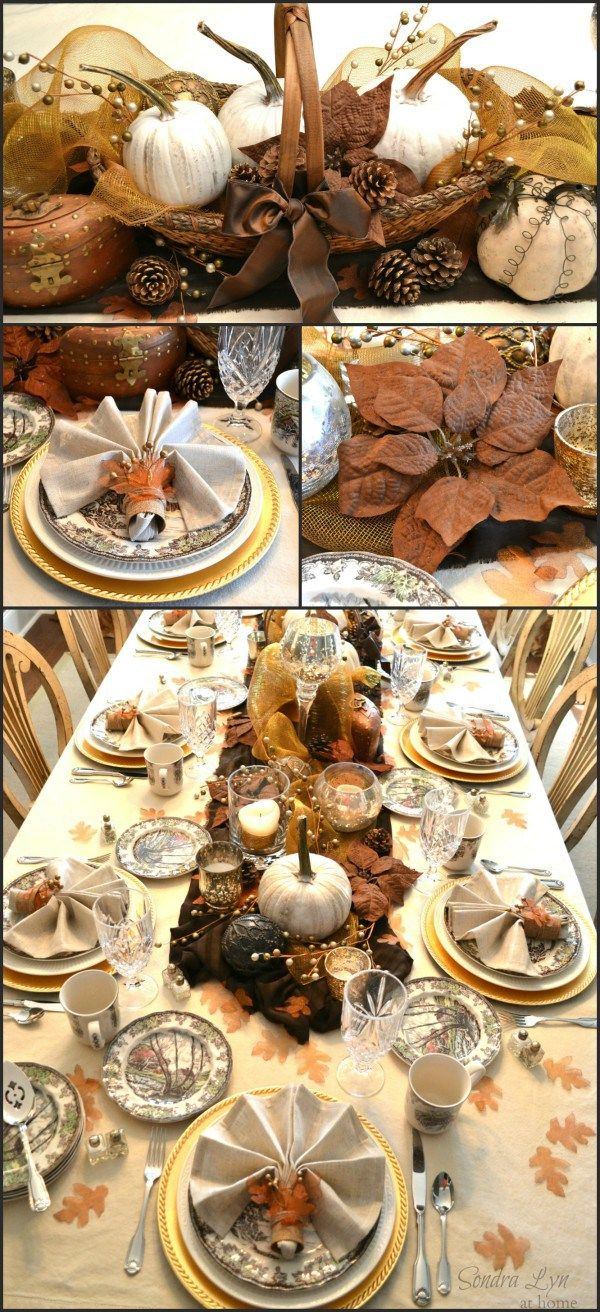 Rustic Glam Thanksgiving Tablescape from Sondra Lyn at Home