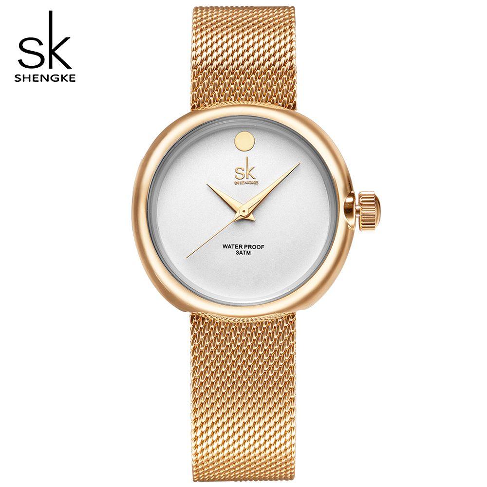0c510cf7feb SK Woman Top Brand Watch Ladies Ultra Thin Golden Steel Band Watches  Women s Dress Quartz Lovers Wrist-Watches Relogio Feminino.