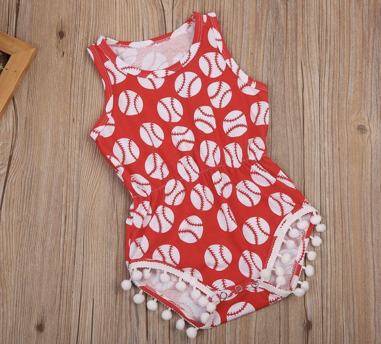 d752da0ef897 Baby Girl Baseball Romper Baseball outfit