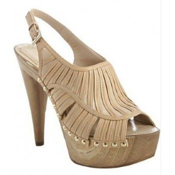 Christian Dior nude strappy leather 'Temptation' slingback clogs $280