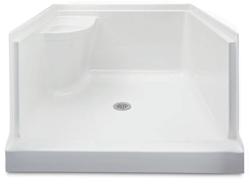 Ellis 42 Acrylic Shower Base With Seat- Right Hand | Bathroom redo ...