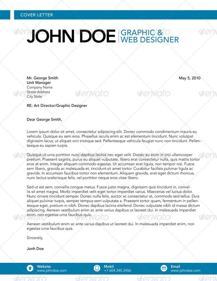 website cover letter