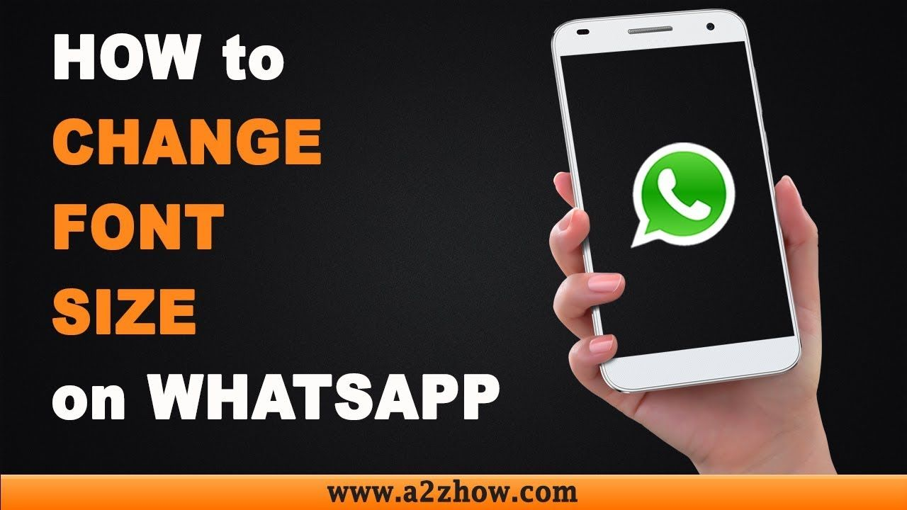 How To Change Font Size On Whatsapp On An Android Device Icon