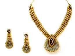 indian antique necklace - Google Search