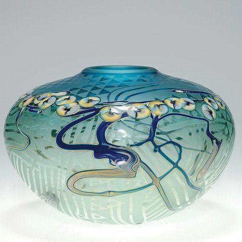 John Byron vase, millefiori, 1988, 6 X 9 1/4. love this!