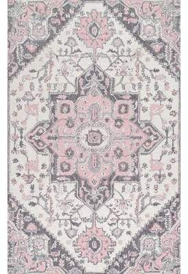 Ophelia Co William Hand Tufted Wool Pink Ivory Area Rug In 2021 Pink And Grey Rug Rugs Usa Pink Rug