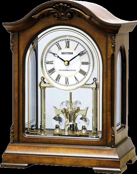 Rhythm Torsion Pendulum Table Clock With Westminster Chime R3 499 00 Beautiful Rhythm Table Clock With Westminster Chime Wo Clock Table Clock Wooden Mantel