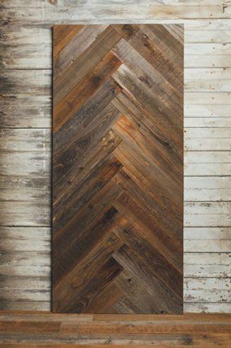 Reclaimed Redwood Herringbone Barn Door Interior Barn Doors Diy Barn Door Barn Doors Sliding