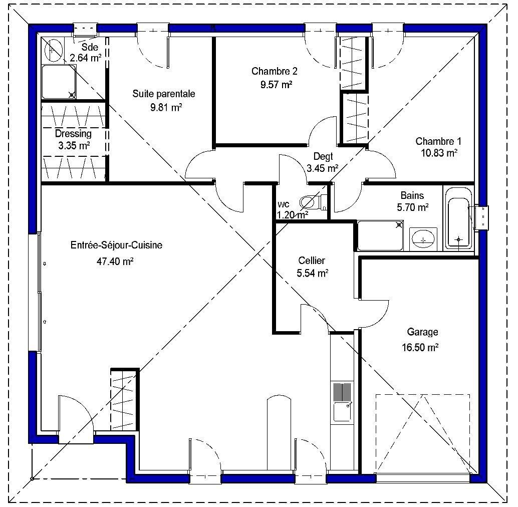 modle de maison adela propos par maisons lara retrouvez tous les types de maison - Construire Une Maison De 100m2