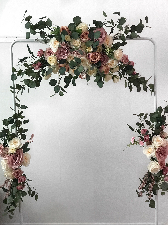 Wedding Arch Flower Arch Wedding Flower Arch Flower Swag Etsy Boho Wedding Flowers Wedding Arch Flowers Wedding Arch