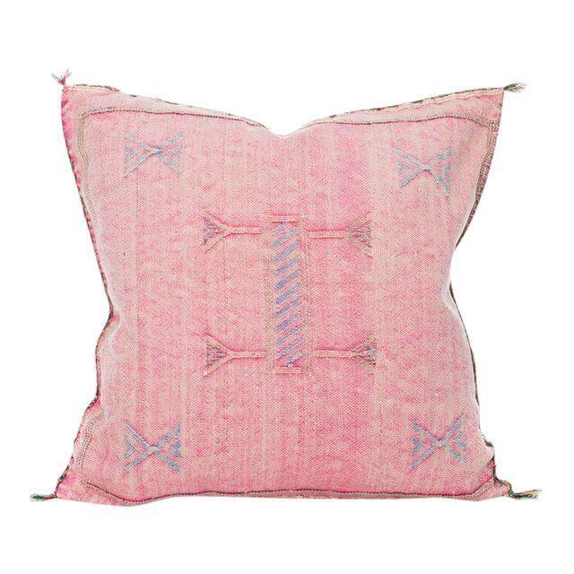 Image of Moroccan Dusty Pink Berber Sabra Pillow