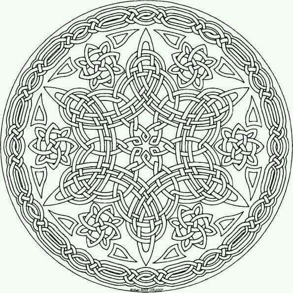 Pin By Haibara Ai On Cini Mandala Coloring Pages Mandala Coloring Celtic Coloring