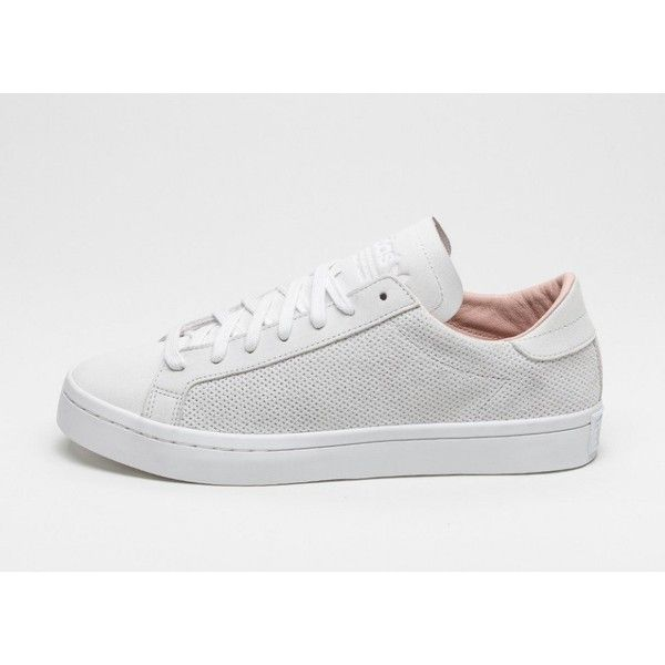adidas Court Vantage (Vintage White Vintage White Dust Pearl) ($92) ❤ liked