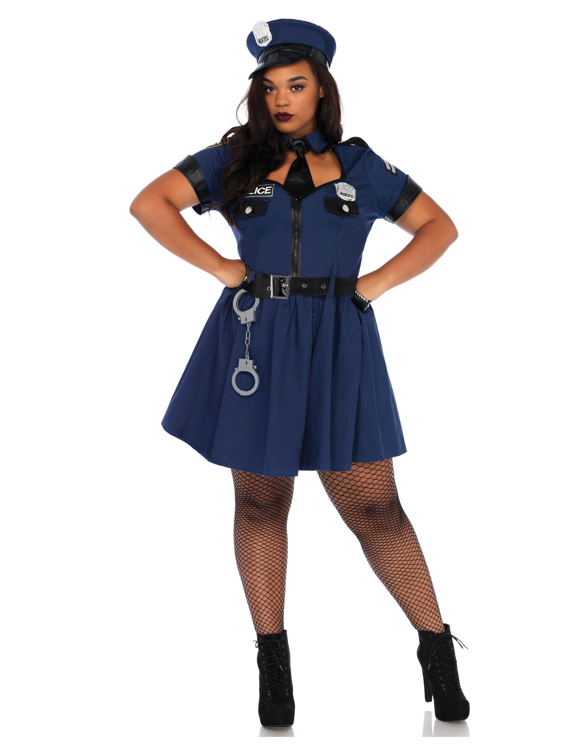 Heisse Polizistin Damenkostum In Ubergrosse Blau Pinterest