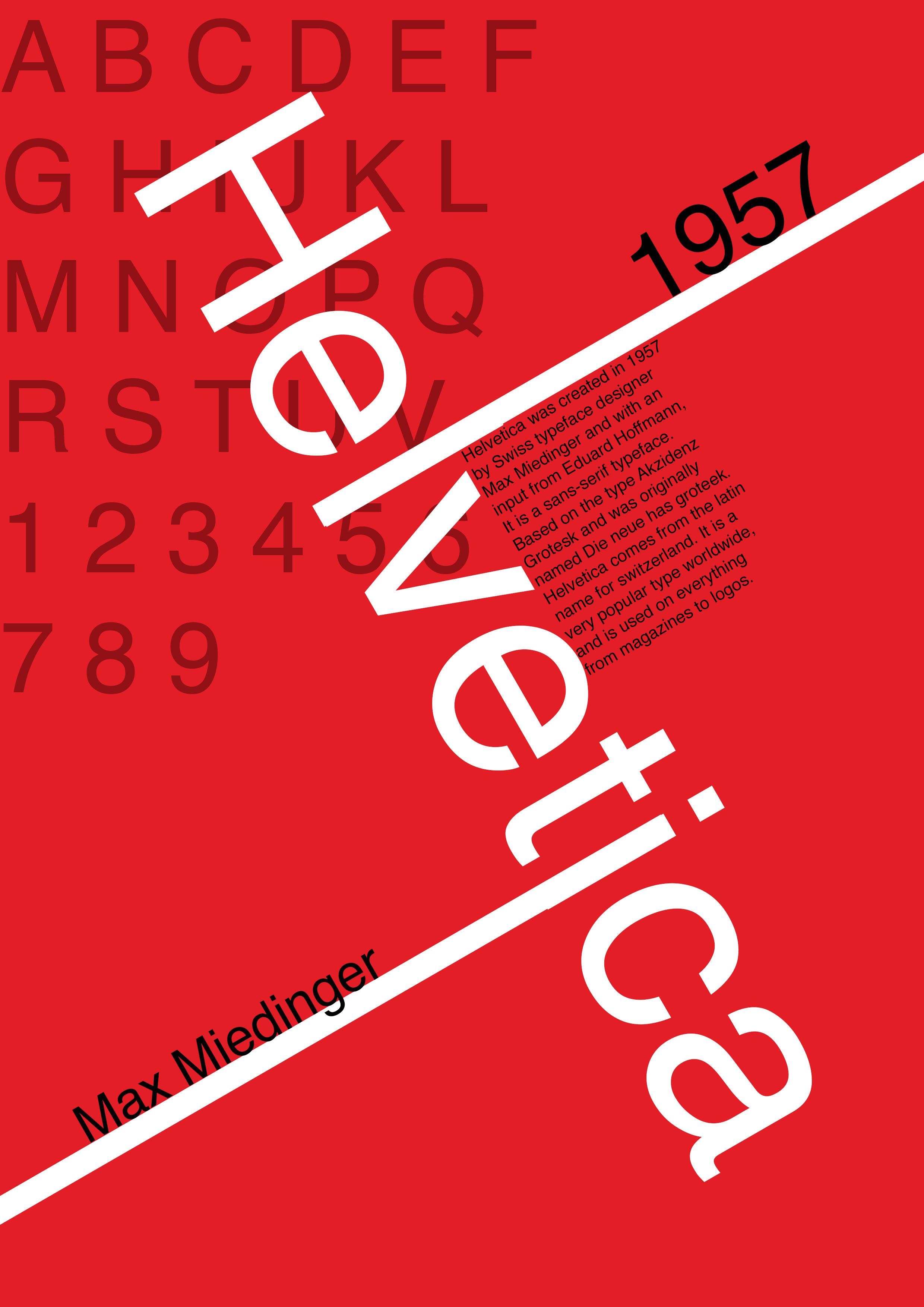 Typography Poster helvetica | Horror Posters | Typographic