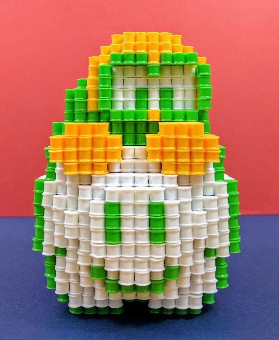Lakitu 3d Pixel Figure Inspired By Super Mario Bros Nes Perler