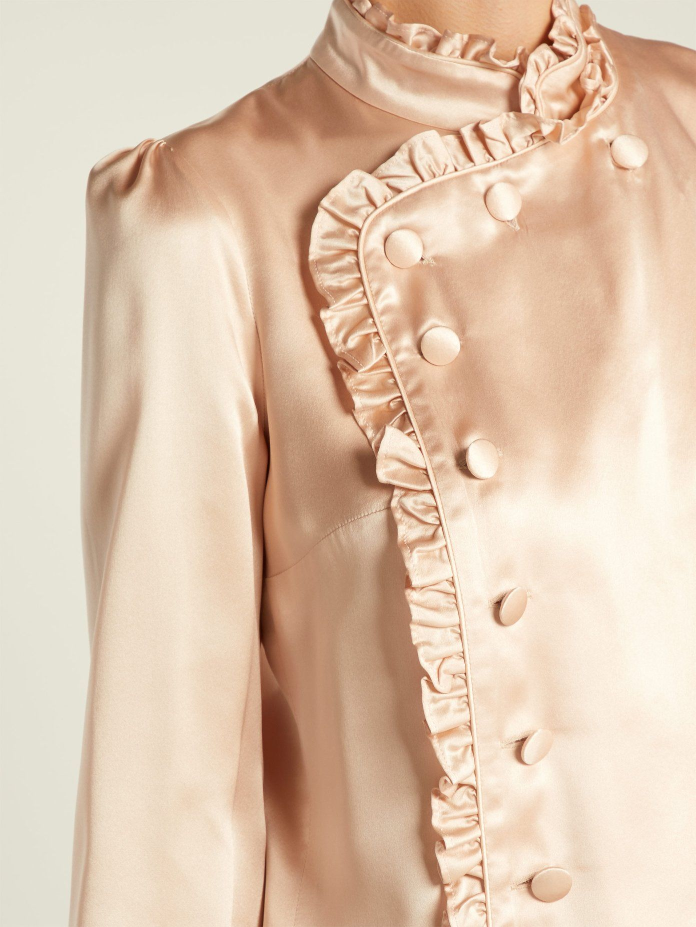 fa9e9b04dd583 Erdem s blush-beige Edlyn blouse infuses Pre-AW18 s subtle  Japanese-inspired undertones with
