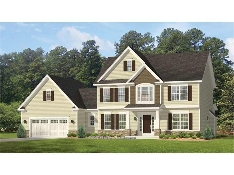 Colonial Style House Plan 4 Beds 2 5 Baths 2700 Sq Ft Plan 1010 160 Colonial House Plans Colonial House Colonial Style Homes