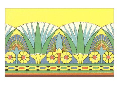 Egyptian Lotus Decorative Arts Giclee Print At Art Tops Of