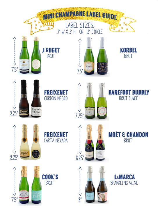 Free Printable Guide to Mini Champagne Labels  | Wedding