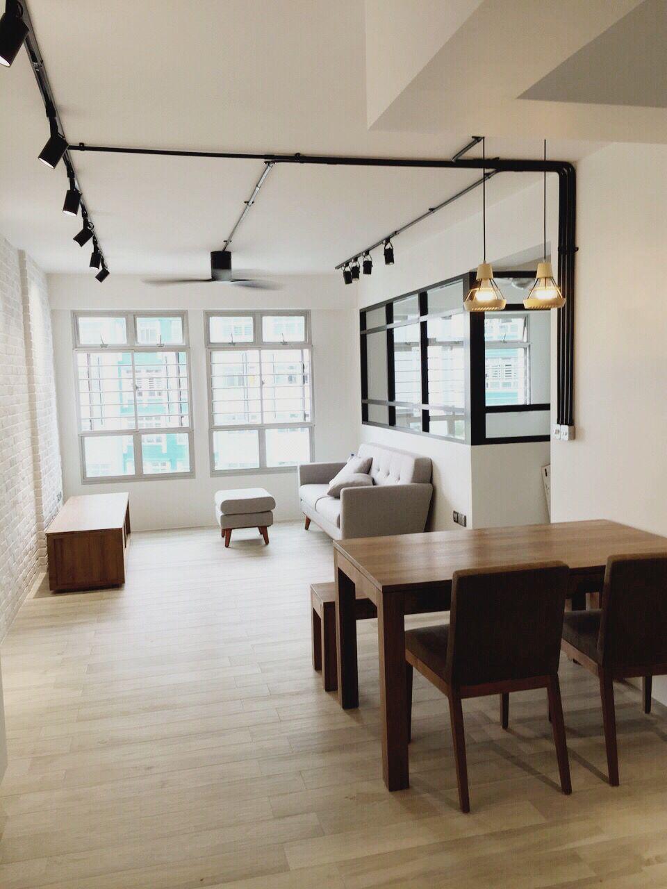 Hdb Living Room Decorating Ideas: Teak Furniture Scandinavian Black Frame Hdb