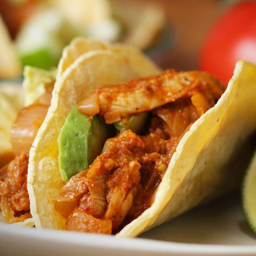 Chicken tinga tacos tinga de pollo recipe food
