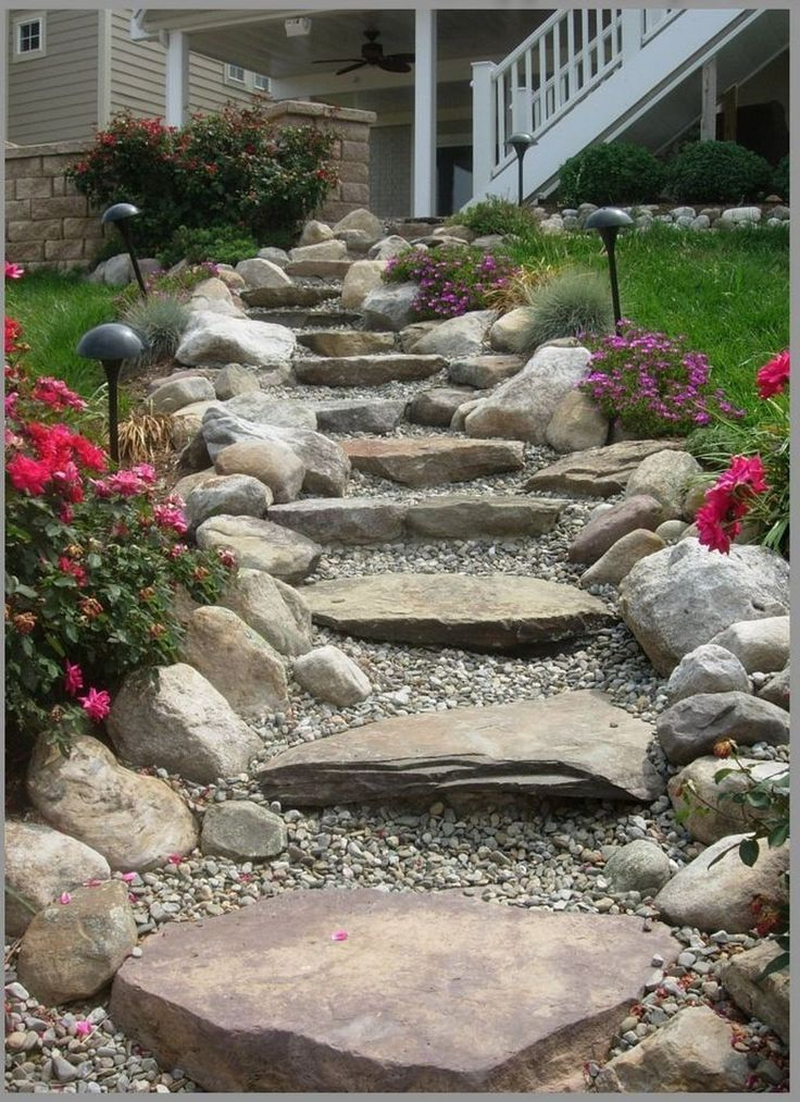 30+ Newest Stepping Stone Pathway Ideas For Your Garden - LOVAHOMY