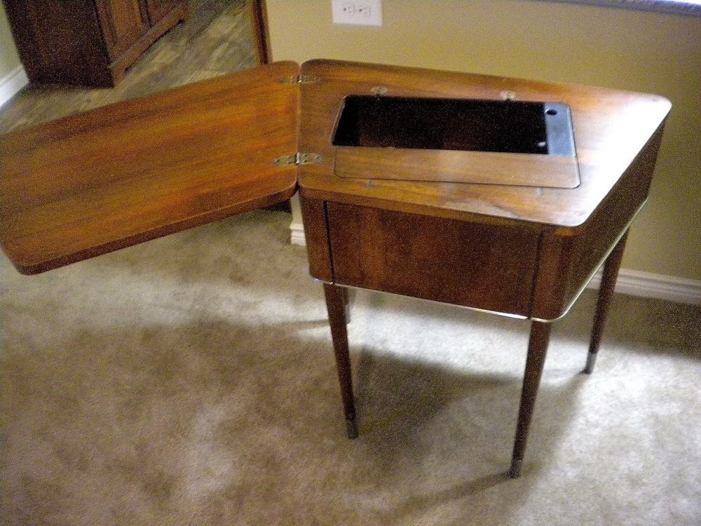 Vintage Singer 301 Trapezoid Sewing Machine Cabinet #74 - Cabinet ...