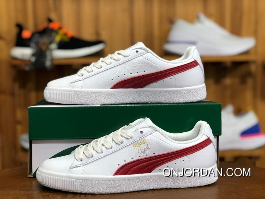 03b561fb4854 Puma Match Lo Classic 364669 03 Womens Skateboard Shoes Clyde Core L Foil  White-Barbados Cherry-Gold Best