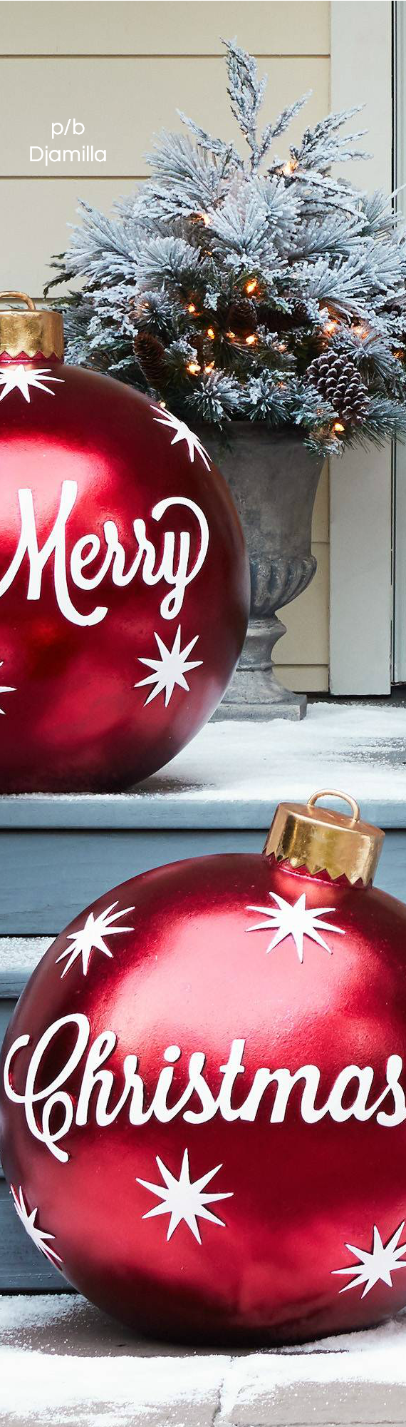 Outdoor oversized christmas ornaments christmas ideas pinterest