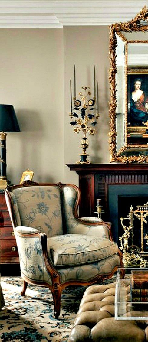 amazing french country living room decorating ideas | Lovely living room via @cattknap. #patternplayathome # ...