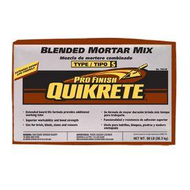 Quikrete Profinish 80 Lb Gray Type S Mortar Mix Stuff Mortar