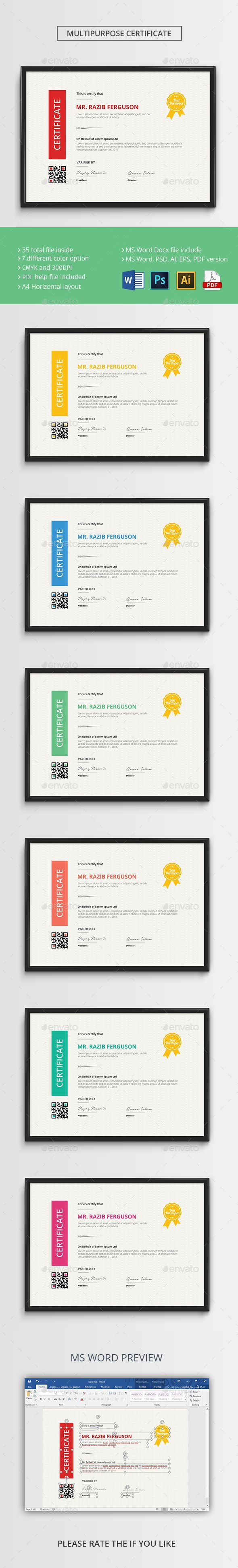 The certificate certificate psd templates and template the certificate infographic templatespsd yadclub Images