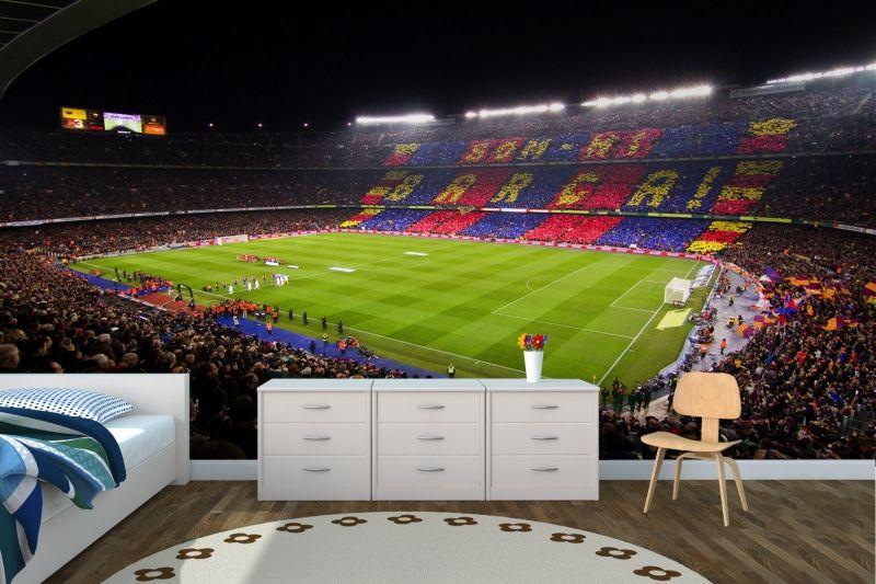 Best Barcelona Nou Camp Wall Mural Soccer Room Football Rooms Football Bedroom 400 x 300