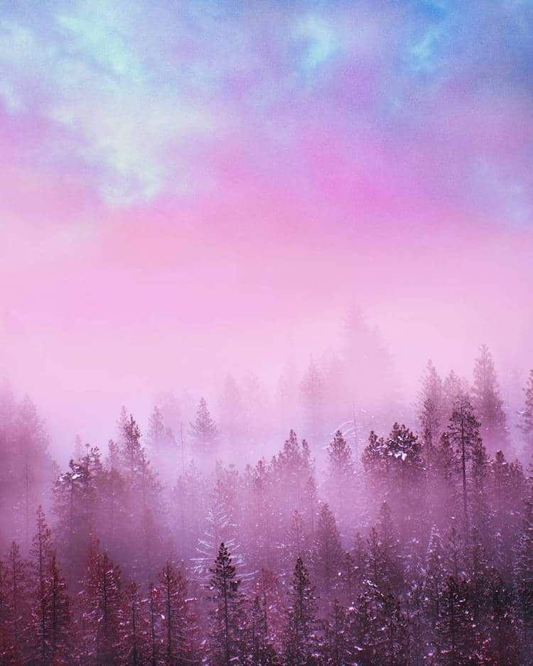 Interview Landscape Photographer Captures The World In Dreamy Bubblegum Hues Pastel Photography Colorful Landscape Dreamy Photography
