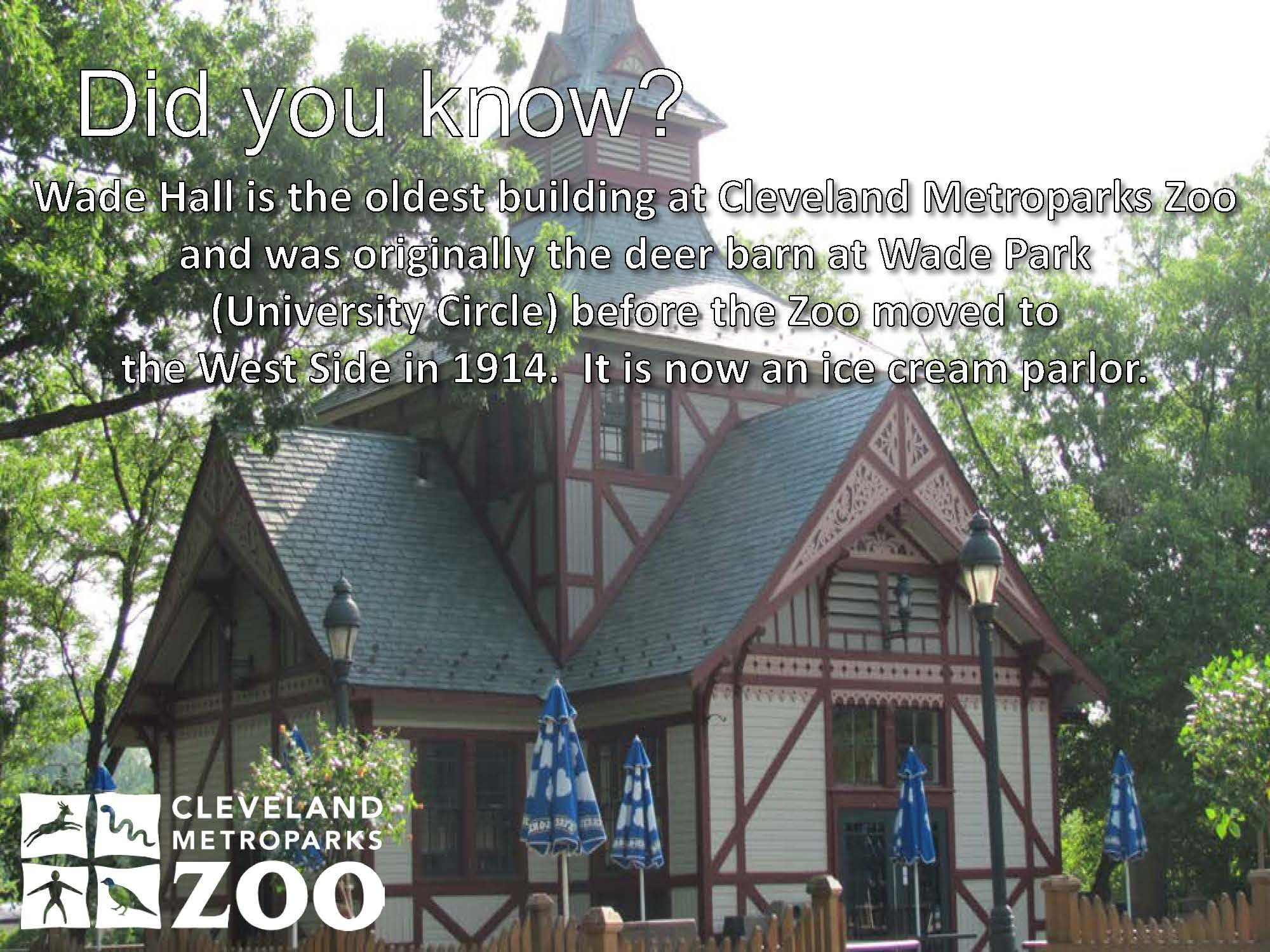 Wade Hall Is The Oldest Building At Cleveland Metroparks Zoo And Was Originally The Deer Barn At Wade Park U With Images Cleveland Metroparks Old Buildings Cleveland Ohio