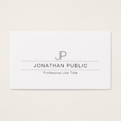 Elegant modern professional monogram simple plain business card elegant modern professional monogram simple plain business card professional gifts custom personal diy reheart Gallery