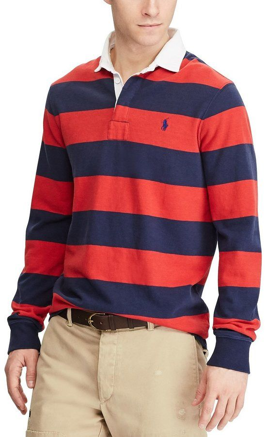 Polo Ralph Lauren Slim-Fit Iconic Rugby Long-Sleeve Polo Shirt