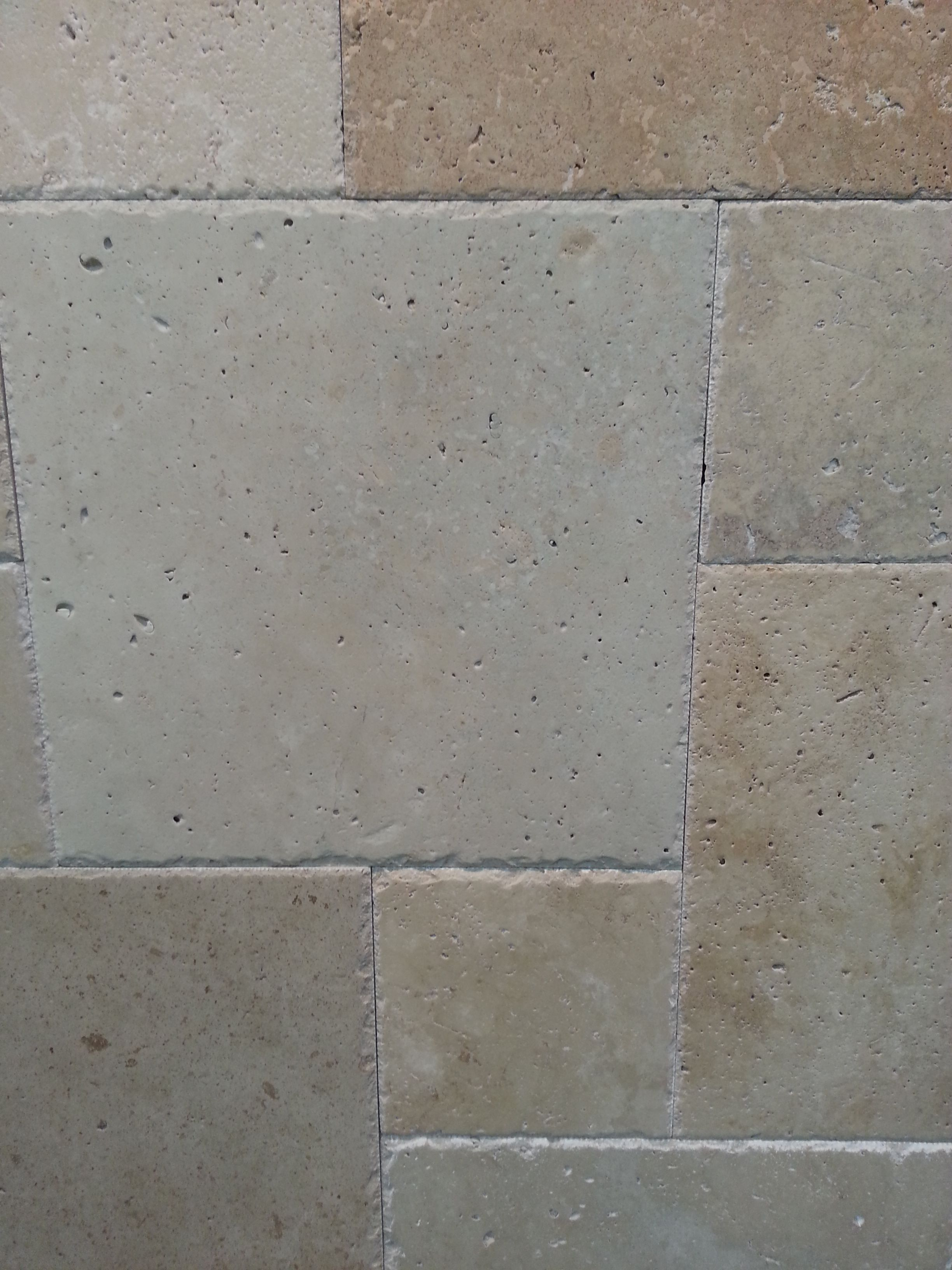 Ivory Blend French Pattern Brushed Chiseled Travertine Tiles Travertine Tile Travertine French Pattern