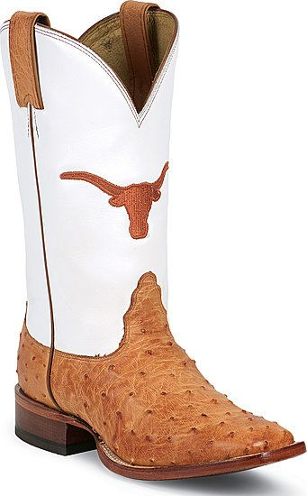 8bb97430e50 Nocona Full Quill Ostrich University of Texas Longhorns College Boot ...