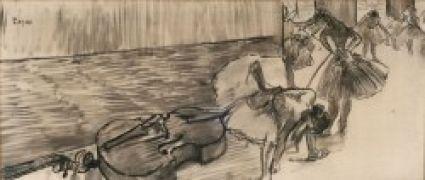 Danseuse En Blanc (Estudio Para Dos Bailarinas En Escena) - Degas, Edgar