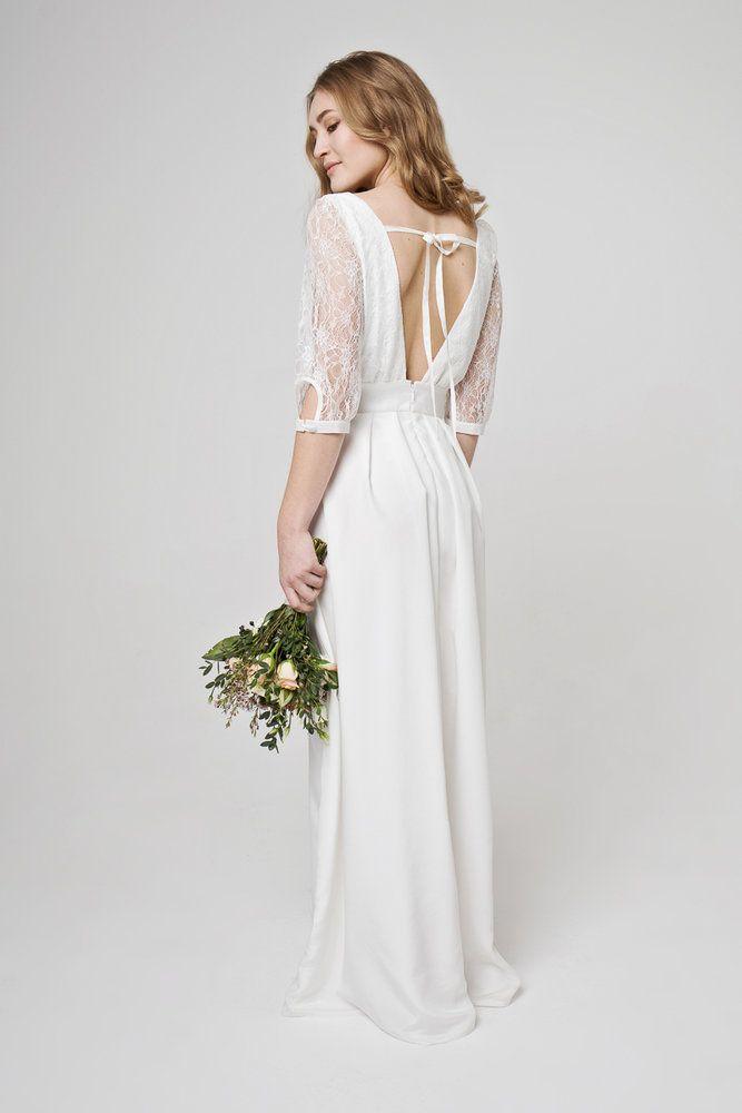 Bezauberndes Hochzeitskleid mit schöner Spitze. für die perfekte ...