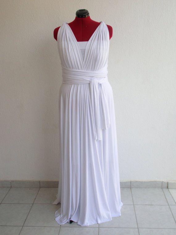 PLUS Size Infinity Convertible Dress Floor Length by AssaFashion