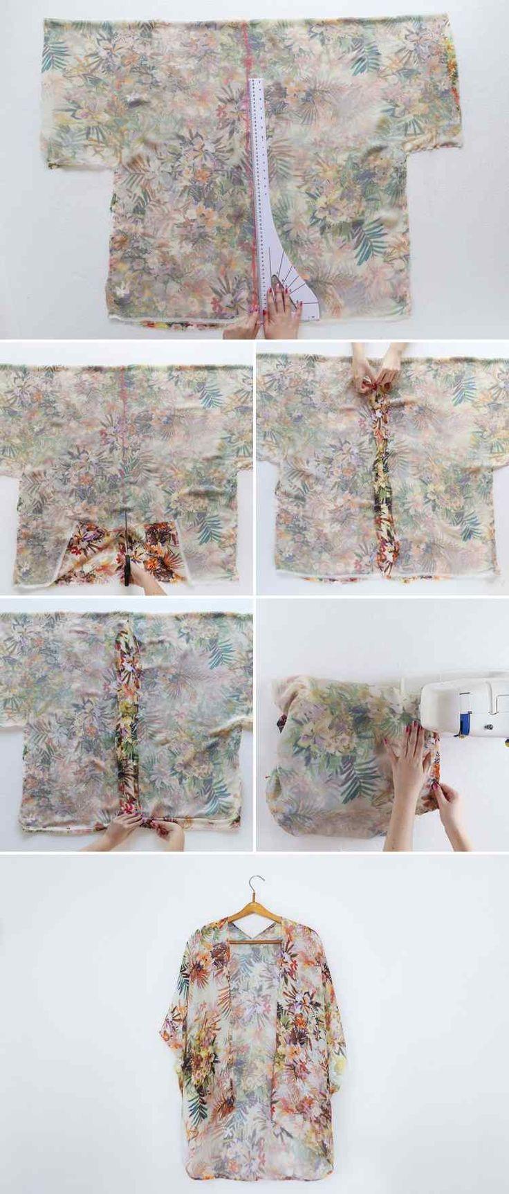Damen Kimono Jacke: DIY Idee sehr einfach zu machen!