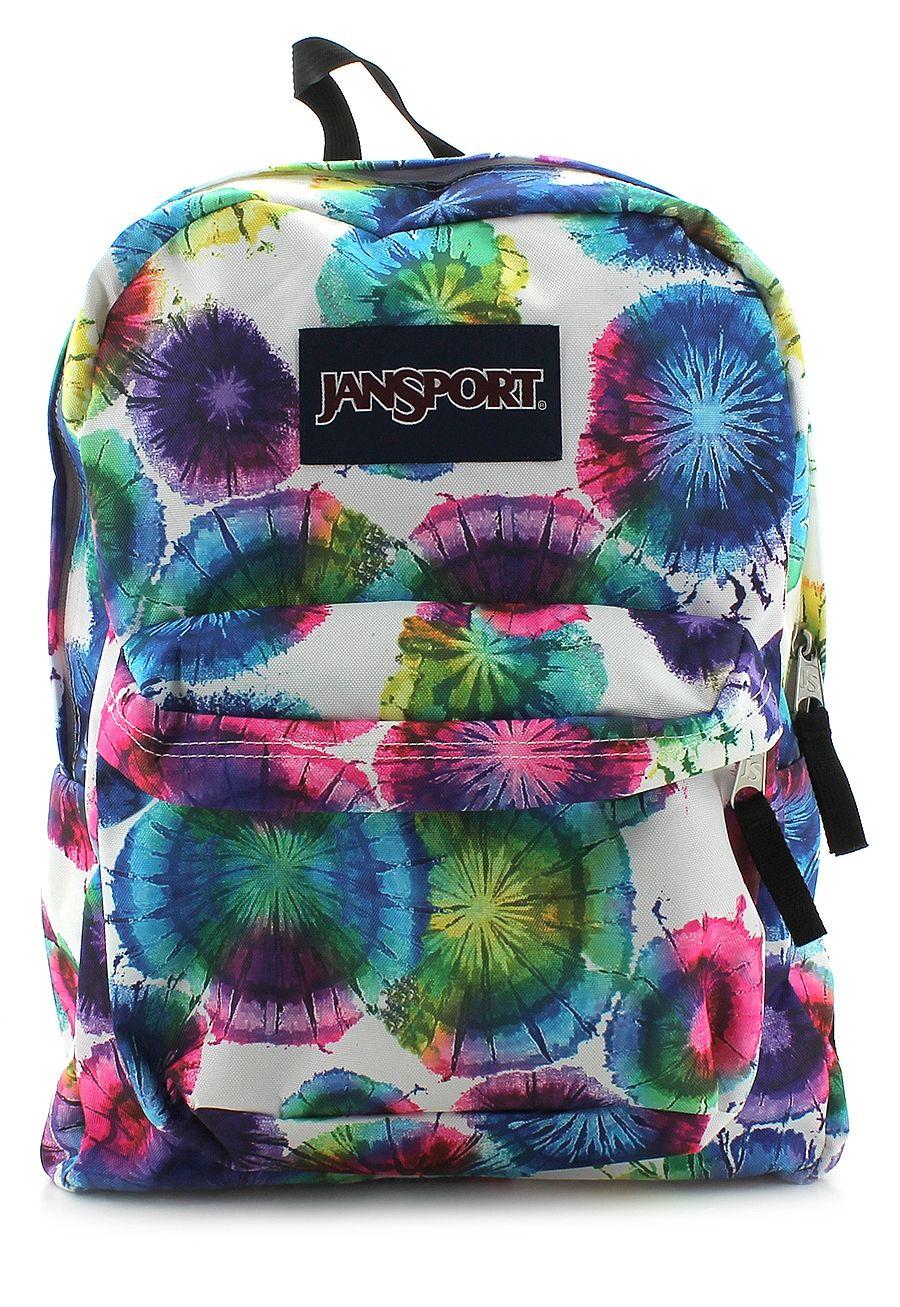 Fun, colorful, retro tye dye! #Backpacks #JanSport #BackToSchool #Colorful #School