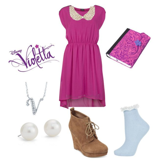 """Violetta- Nuestro camino"" by ruggerista ❤ liked on Polyvore featuring VILA, River Island, Michael Kors, Topshop, BERRICLE and Blue Nile"