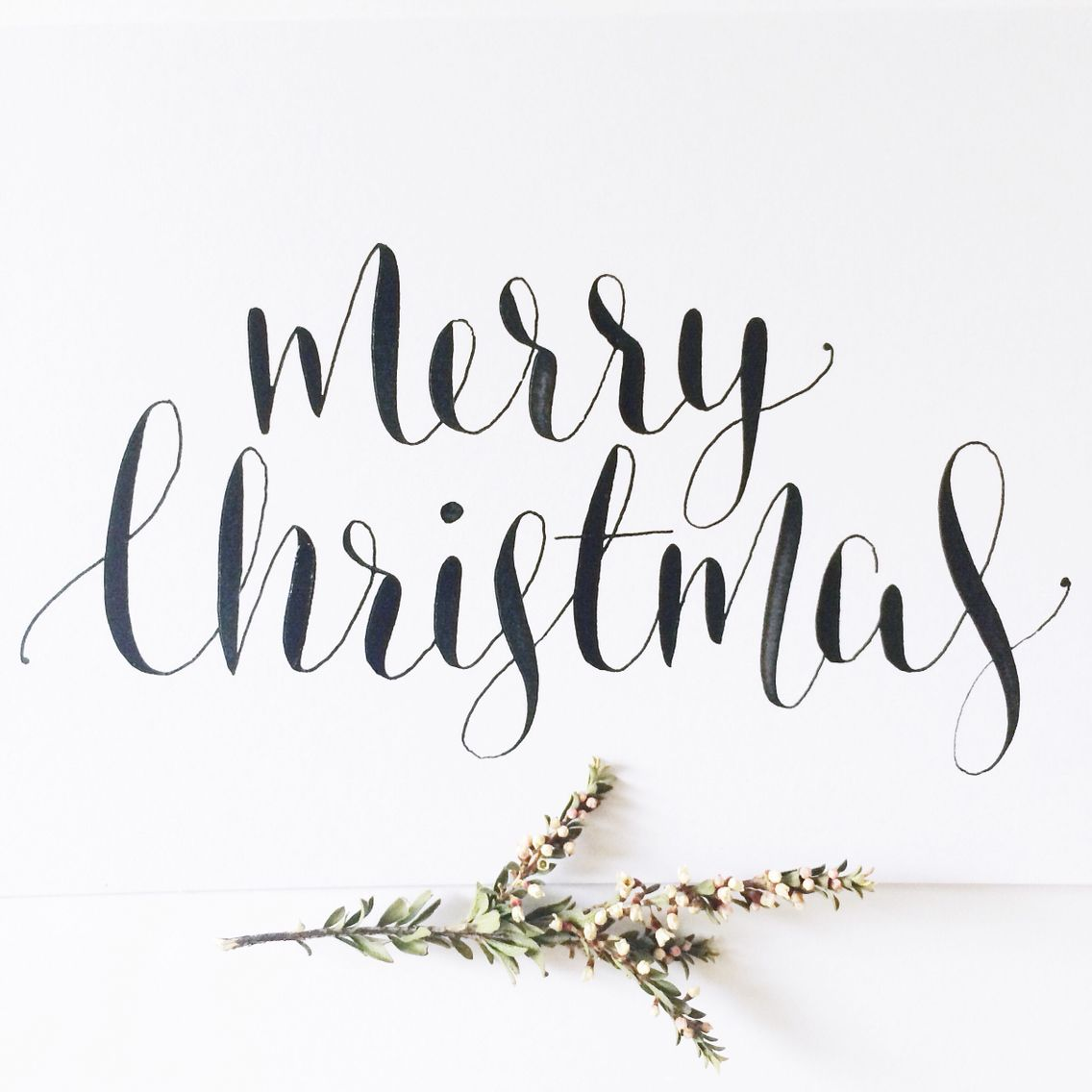 Merry Christmas In Cursive.Merry Christmas Calligraphy Www Willowandink Com Au