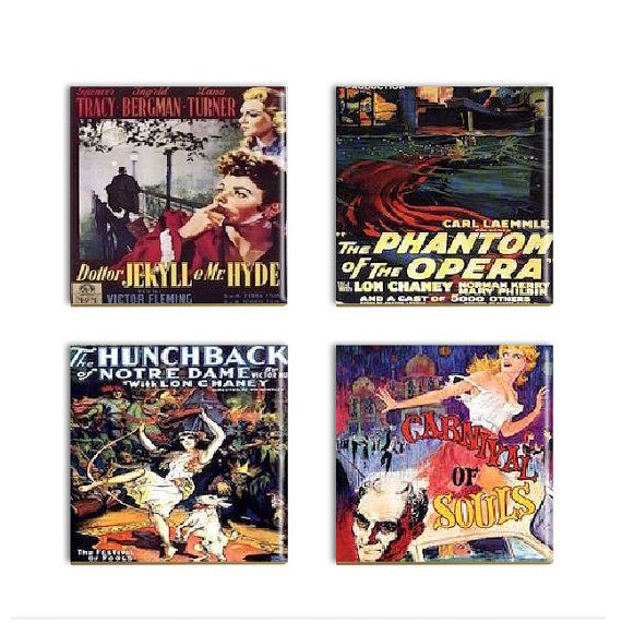 Vintage Movie Poster Coasters Classic By Designsoffaithandjoy Movie Posters Vintage Vintage Movies Classic Movie Posters