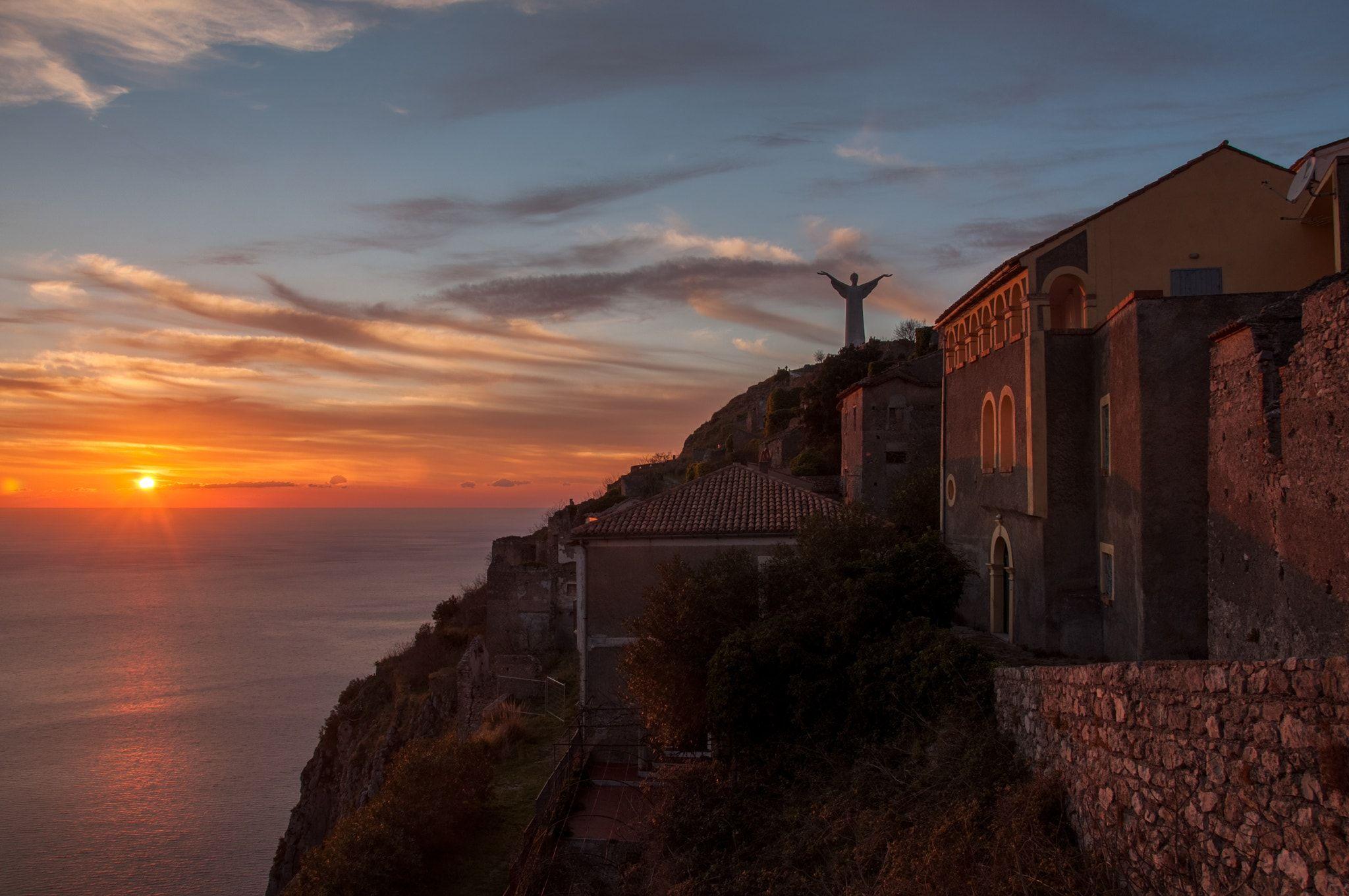 Sunset 31.12.2016 Vista dal monte San Biagio. Maratea